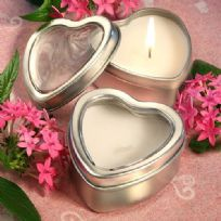 Light For Love Heart Candle Tin Favour